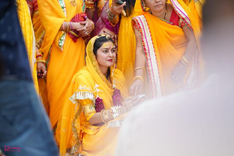 Best captured picture of bride's haldi